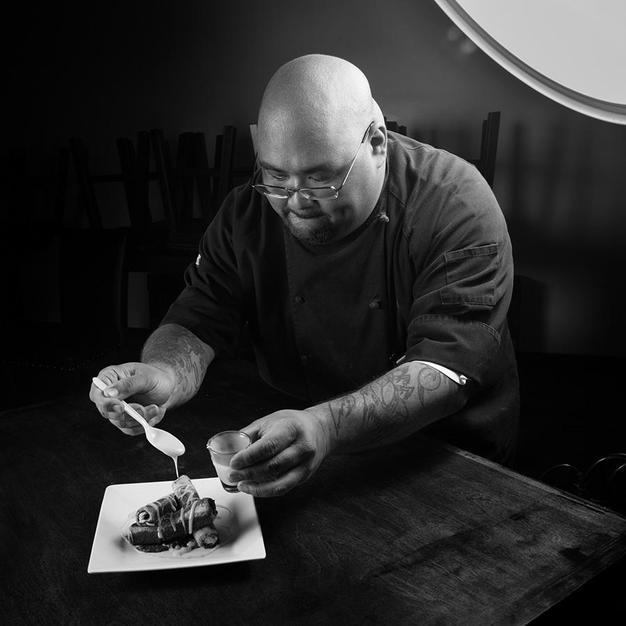 Ed Morita in the kitchen