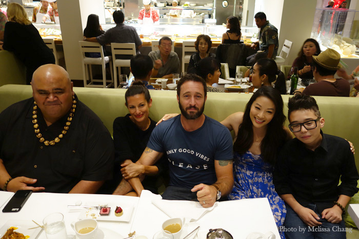 """Goofing around: """"Hawaii Five-0 cast members with Arden Cho and Aiden James (right)."""