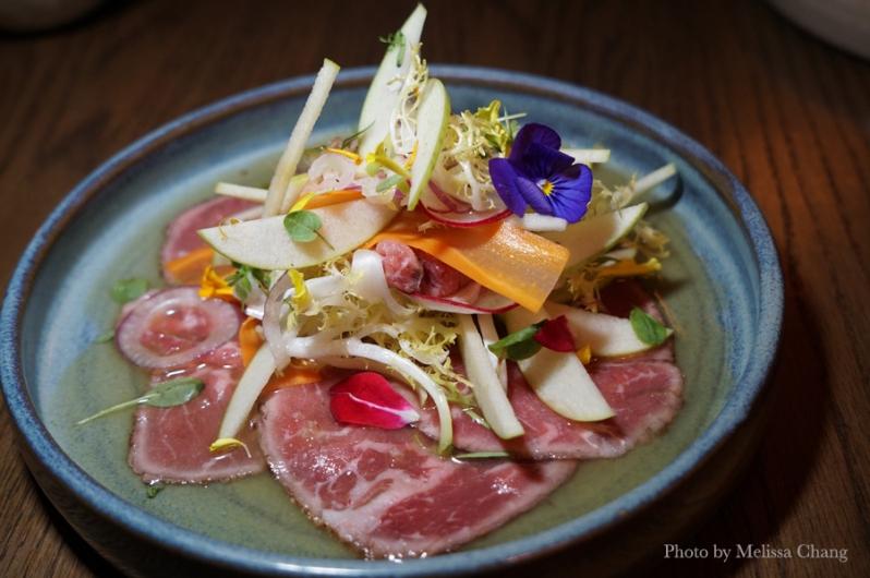 Foreign Concept angus beef striploin tataki