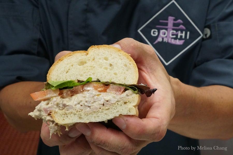 Fresh tuna sandwich ($8).