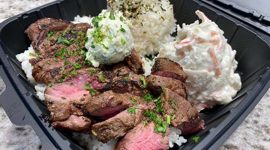 HI Steaks plate
