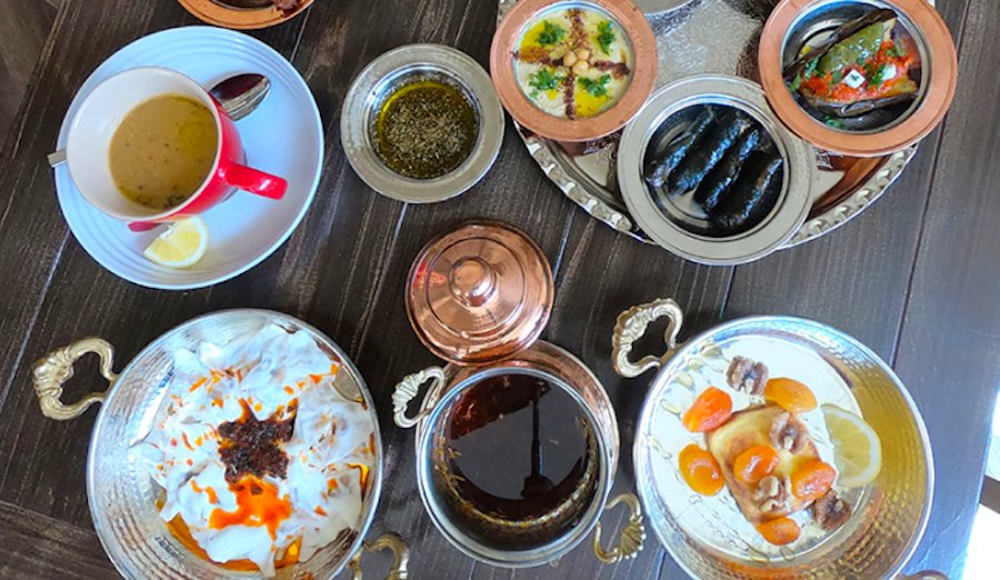 spread at istanbul restaurant