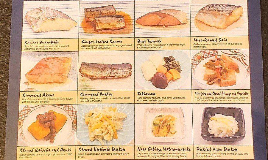 the menu of takehome choices