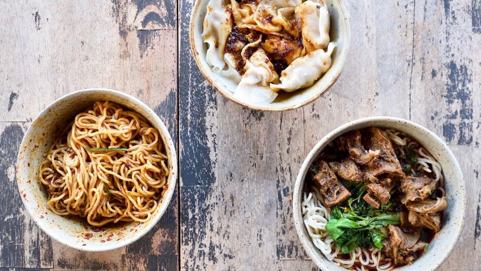 Sichuan noodles and dumplings