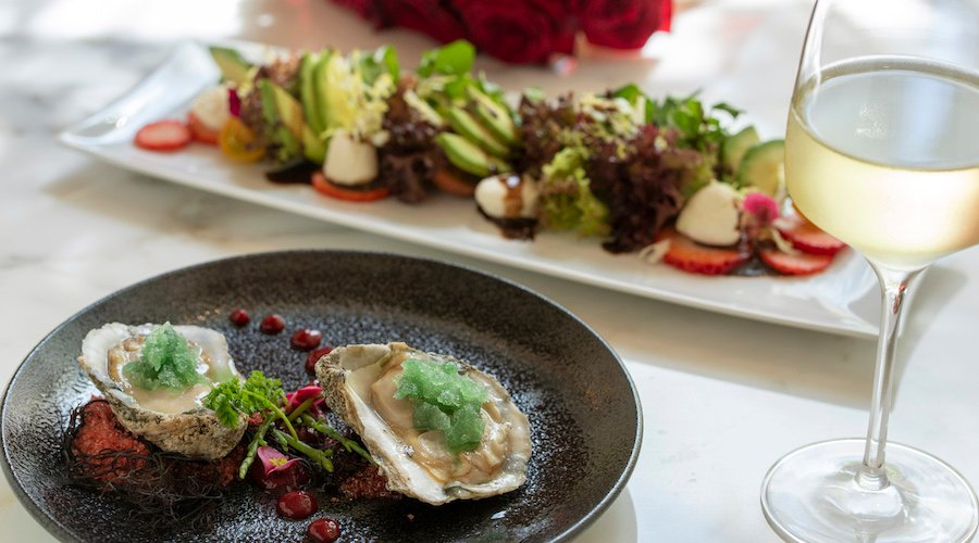 Oysters & greens