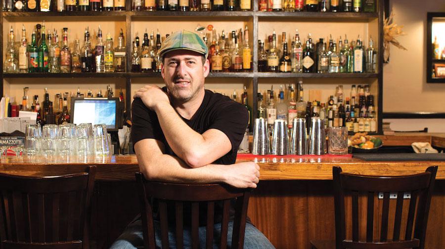 dave newman at his bar in pint and jigger