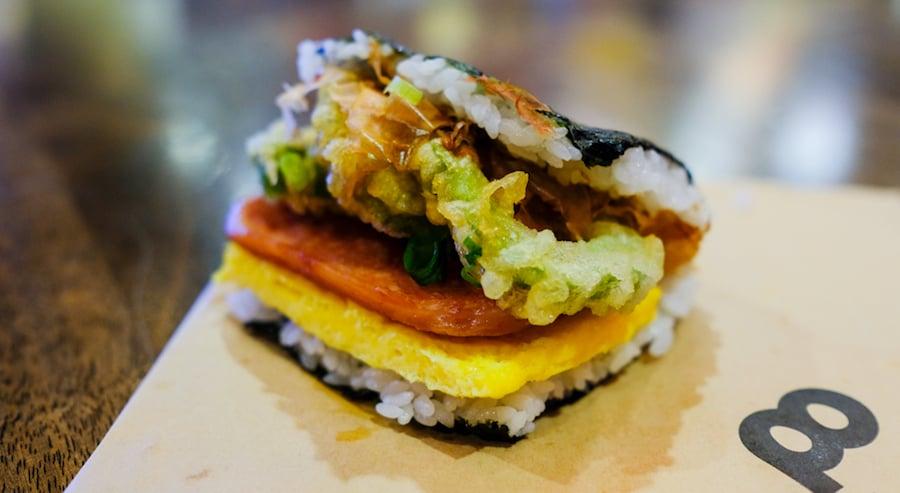 goya tempura spam musubi