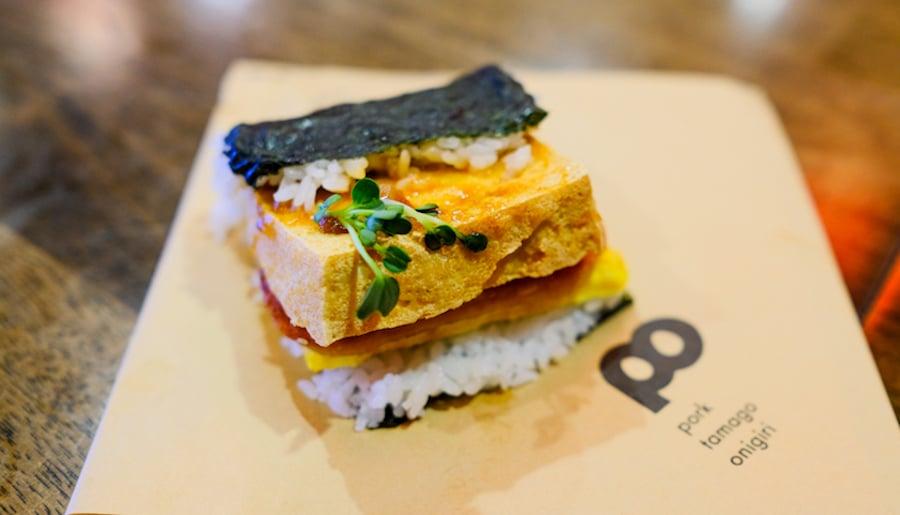 spam musubi with shima tofu