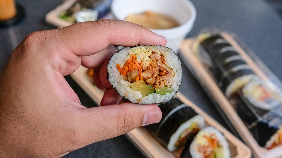 spicy pork kimbap
