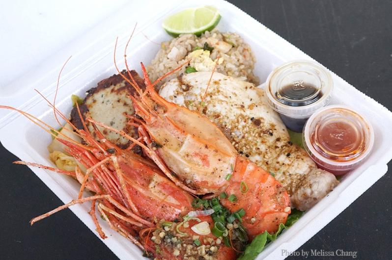 Amaebi shrimp plate