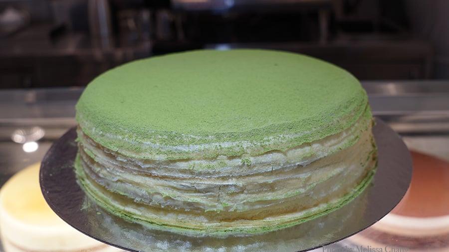 whole matcha cake
