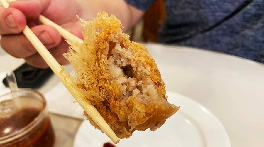 tai pan fried taro dumpling