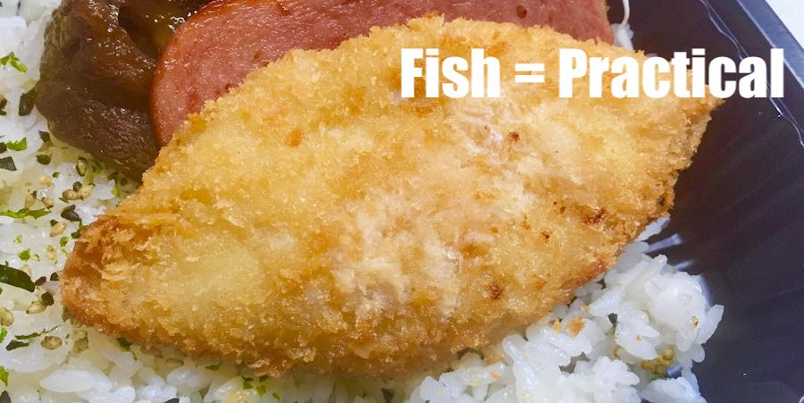 Fried fish in a Zip Pac bento