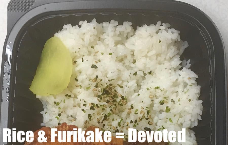 Furikake rice in a Zip Pac bento