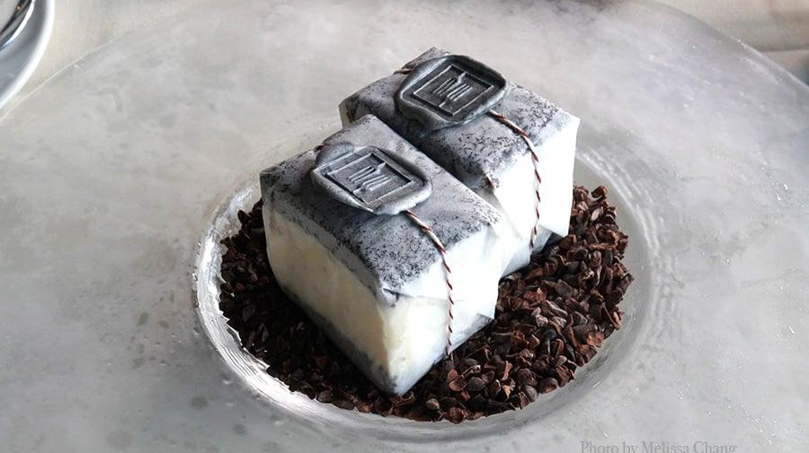black truffle ice cream sandwiches