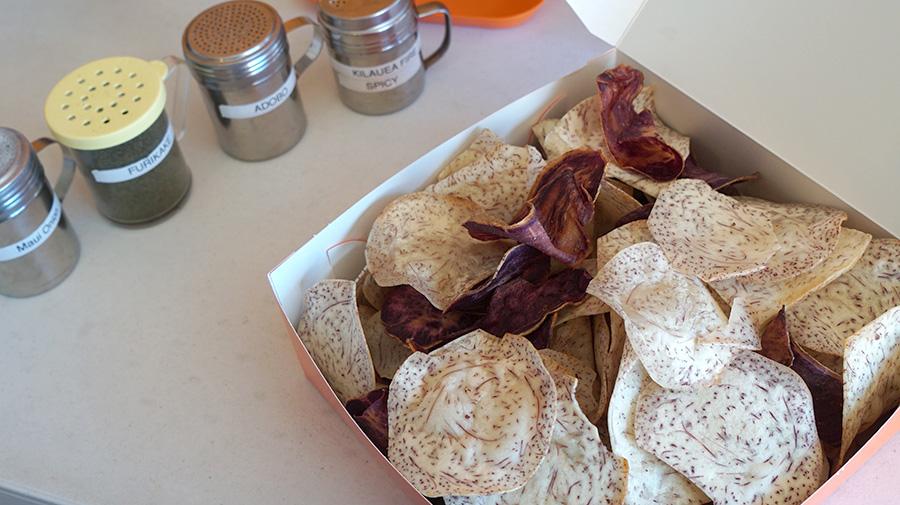 Hawaiian chip company seasoning box