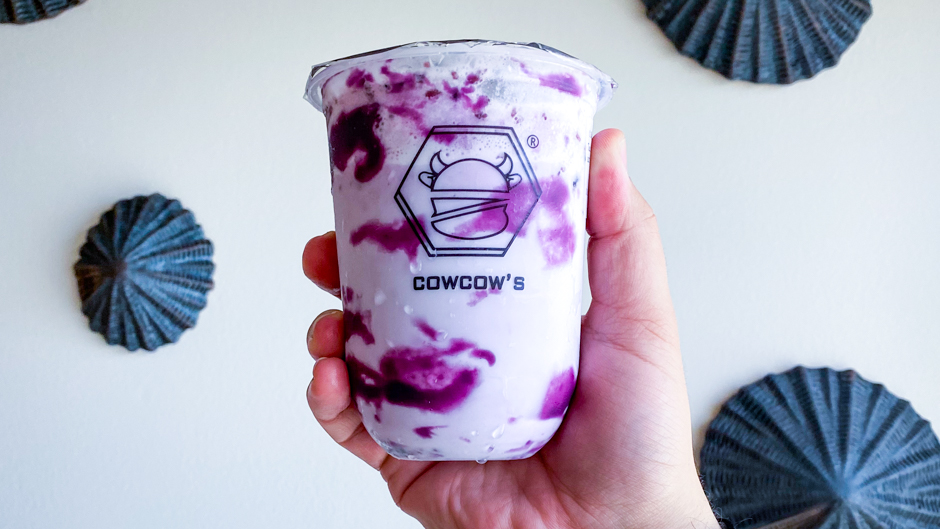 cowcow's tea ube yogurt drink