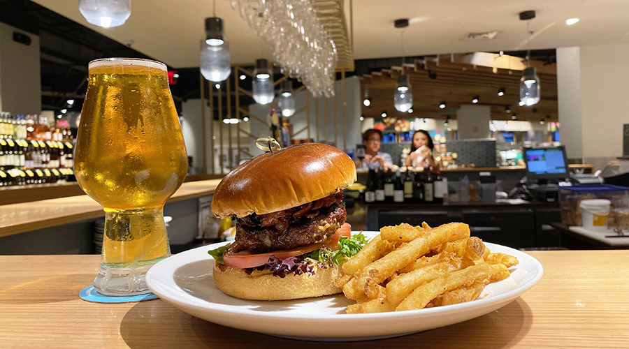 Foodland burger and beer
