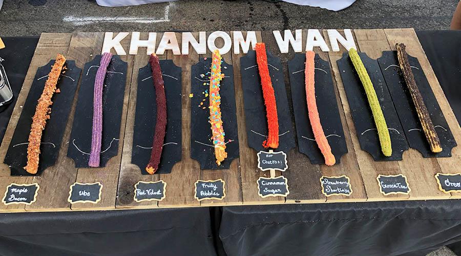 Khanom Wan churro menu