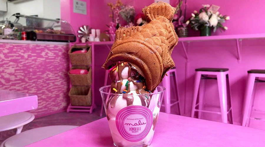 Malu Cafe Taiyaki soft serve