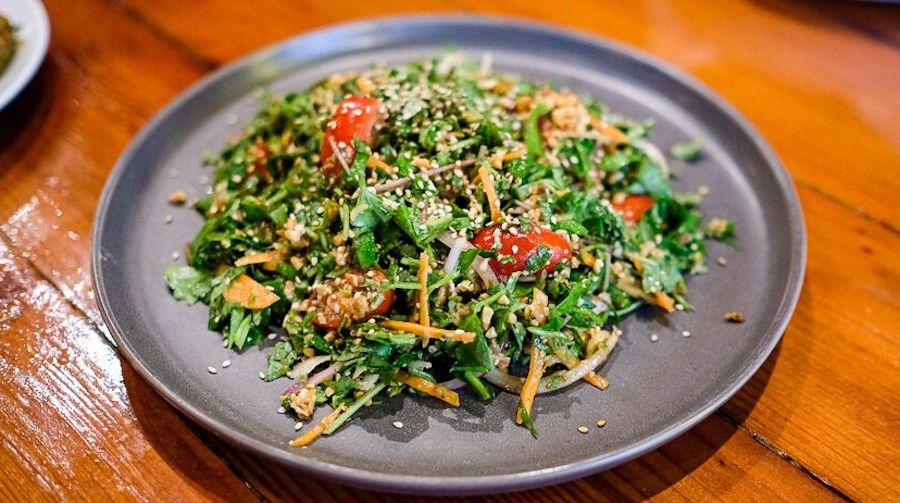 rangoon burmese kitchen pennywort salad
