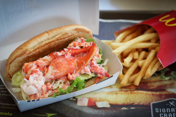Claw-some eats: Preview McDonald's luxe lobster roll