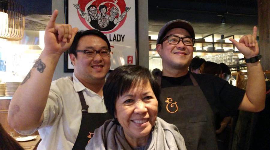 Le family at Pig Tokyo