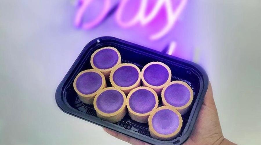 ube cheesecake tarts