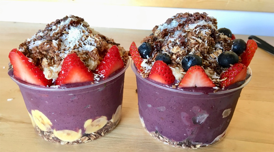 two loaded acai bowls