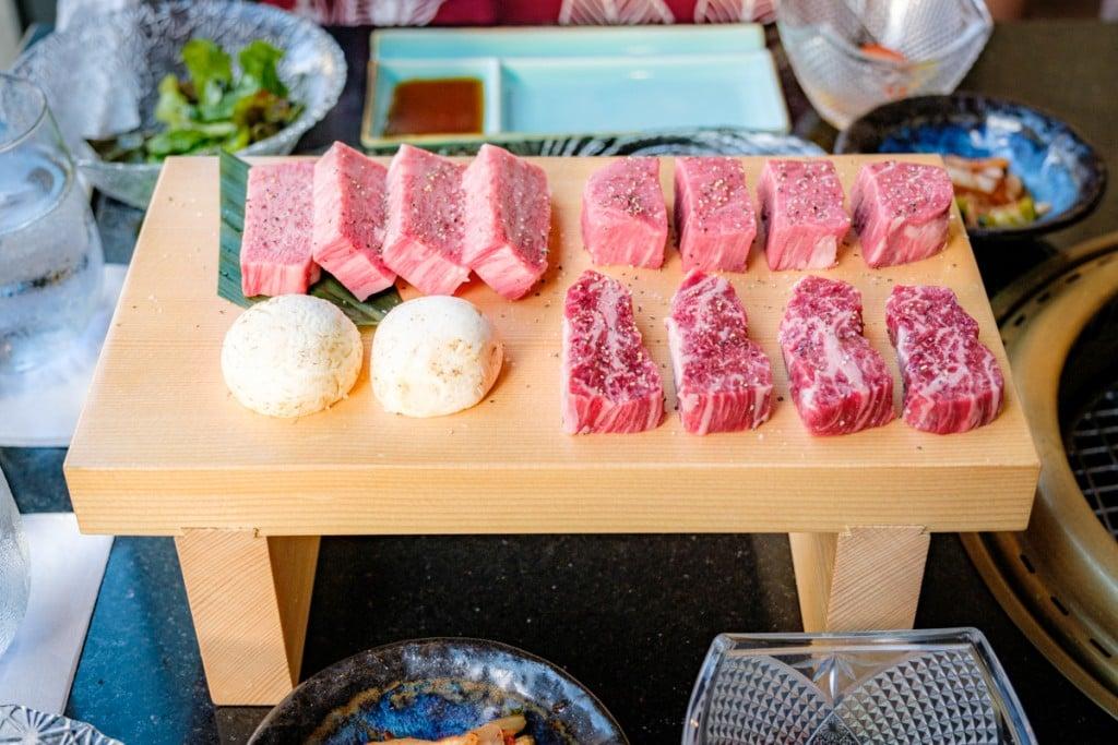 Han no daidokoro Yakiniku Wagyu Beef tray