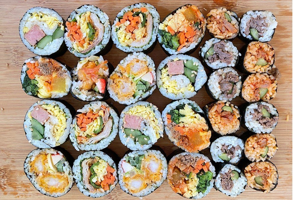 Korean Sushi Rolls from palama supermarket