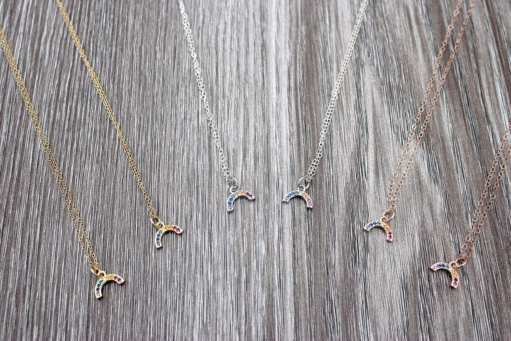Rainbow Charm Necklaces 2