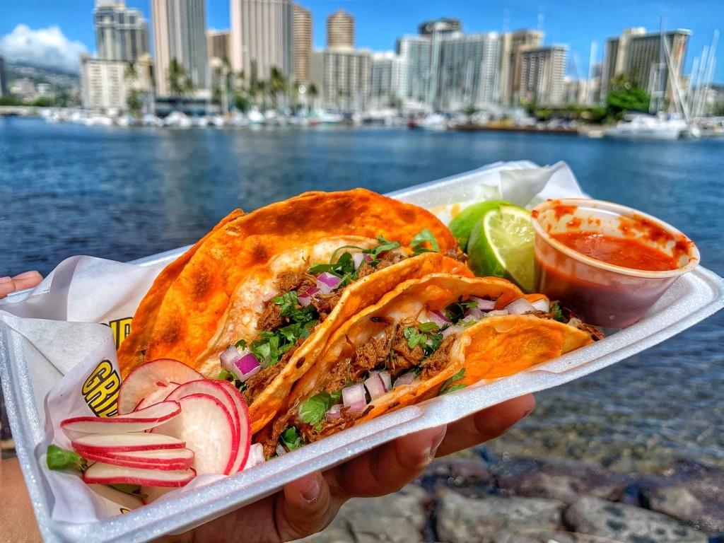 Griddled Birria Tacos