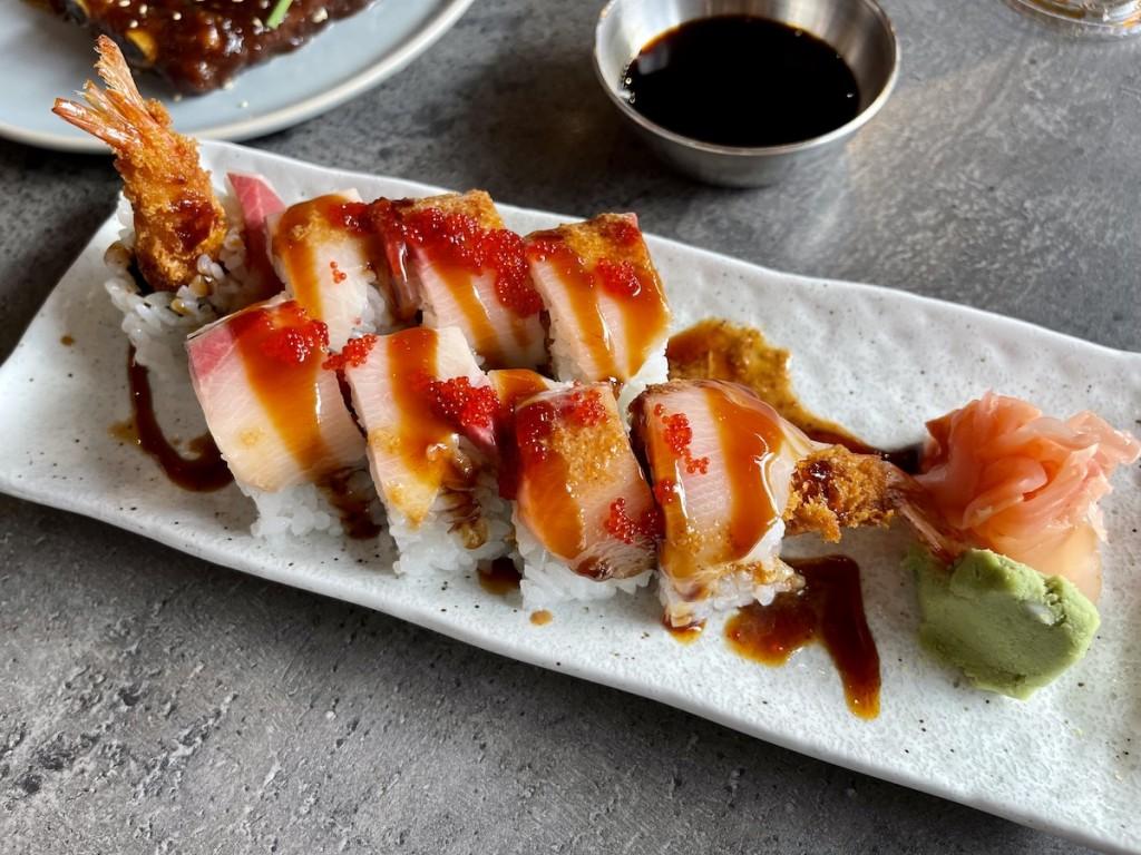 Goen Adobo Shrimp Tempura Roll Maria Burke