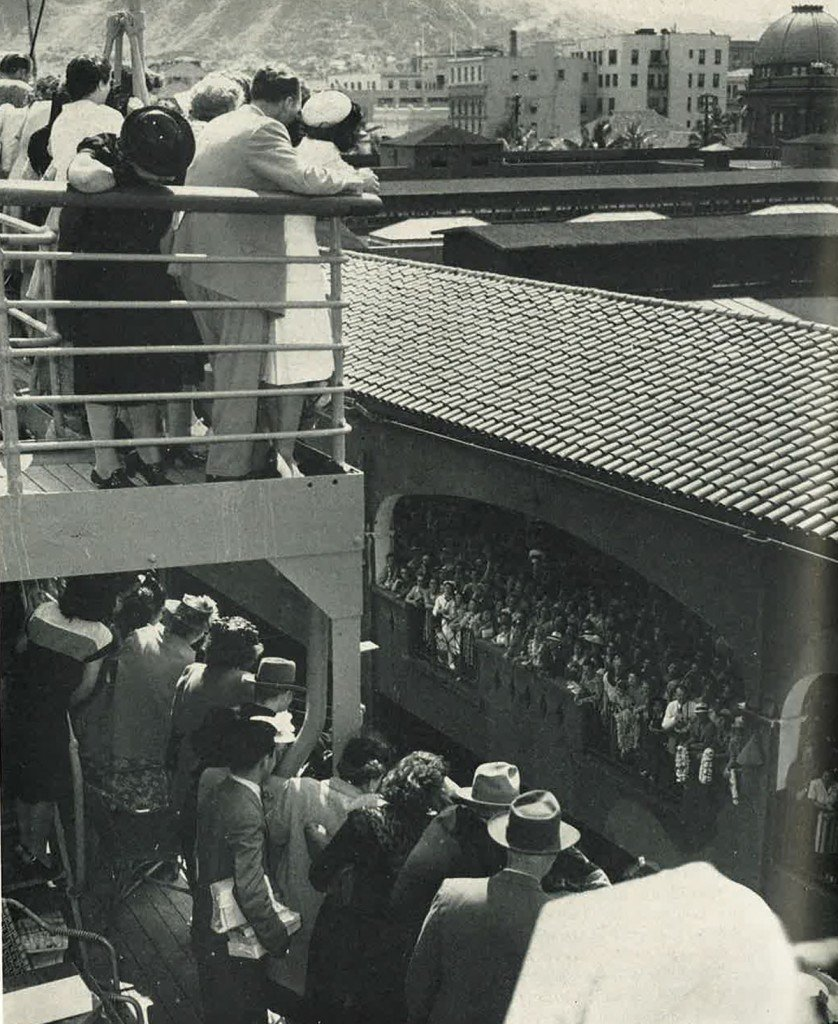 Matsonia Arriving Paradise Of The Pacific July 1946