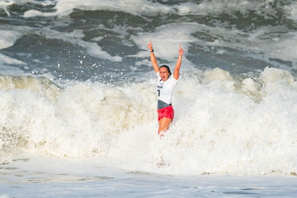 Carissa Moore V Tokyo Olympics Photo International Surfing Association Ben Reed Gold Medal