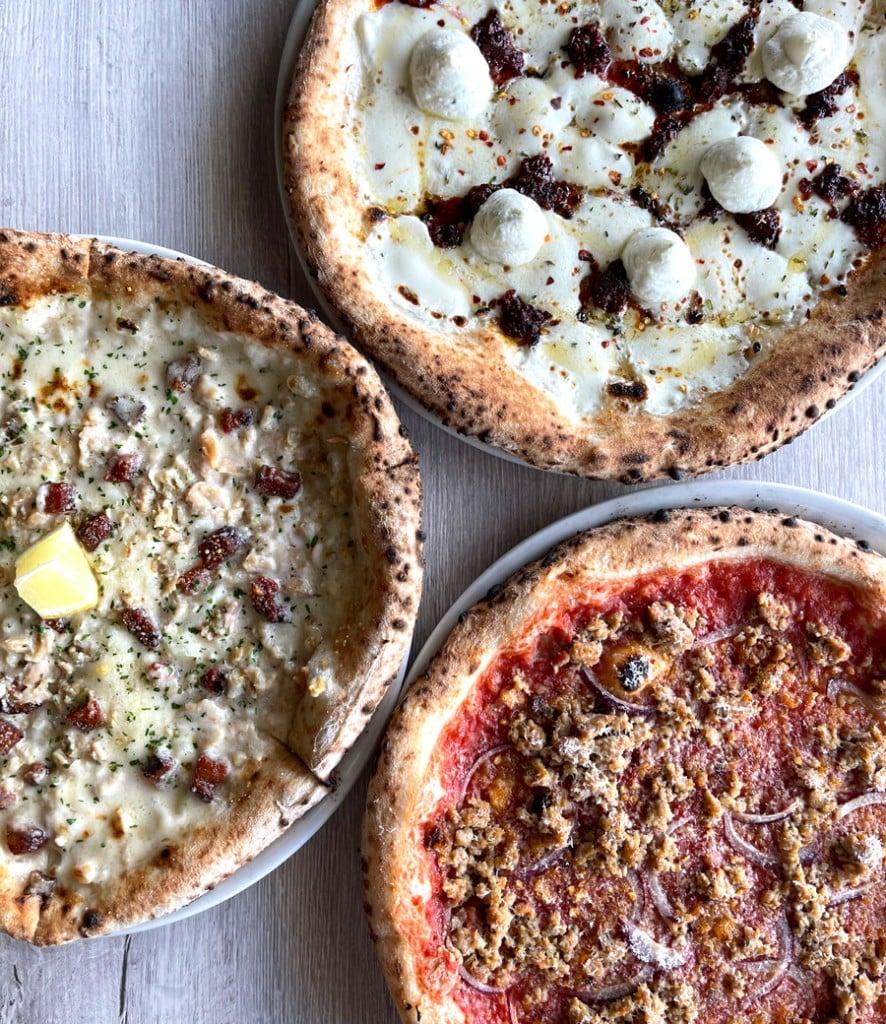 Brick Fire Tavern Pizza Trio