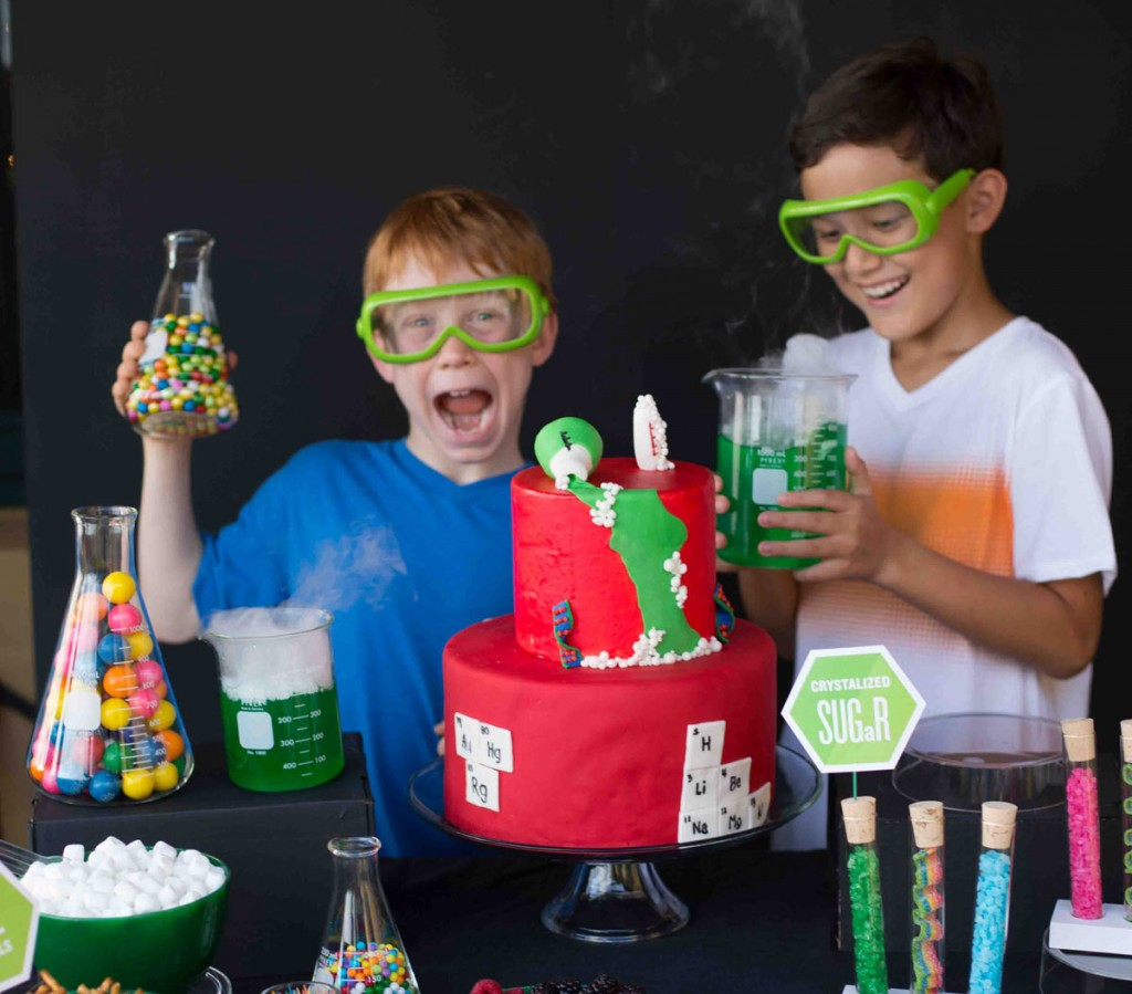 Make It Science Party Boys And Table Photo Karen Db Photography