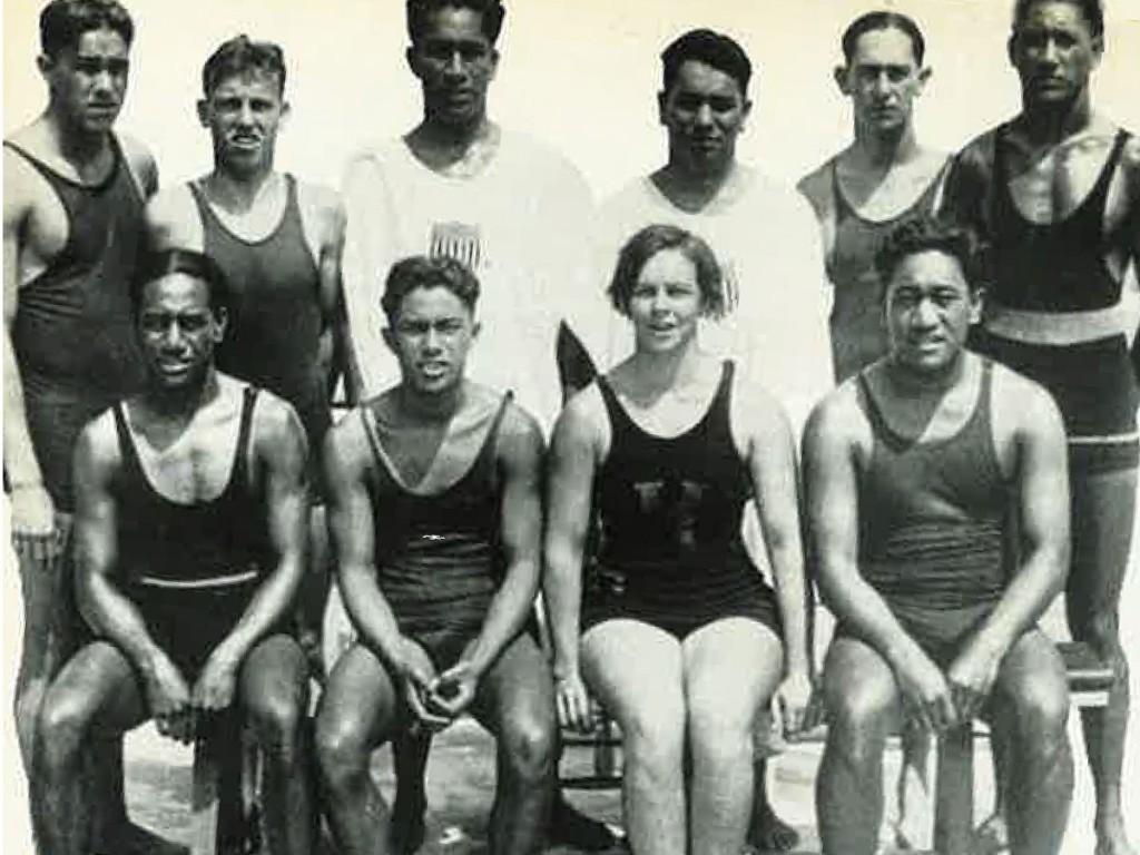 1924 Swim Team Paris Hawaii Olympics Photo Aileen Riggin Soule Courtesy Outrigger Canoe Club