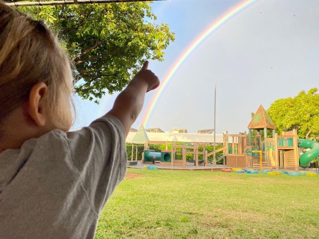 Girl And Rainbow Photo Holy Nativity School