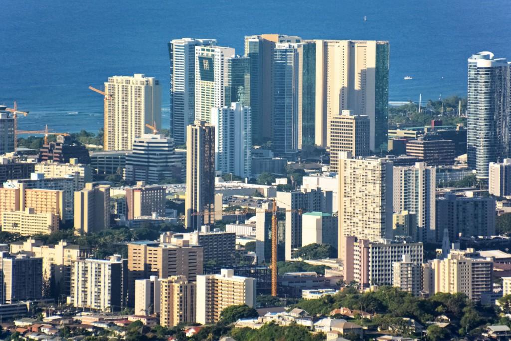 Honolulu Skyline Photo Jeremy Zero Unsplash