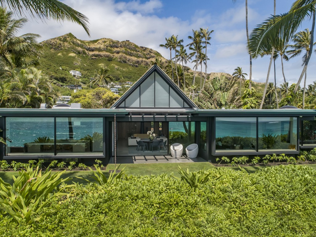 Beachfront Property Lankikai Kailua Hawaii Modern
