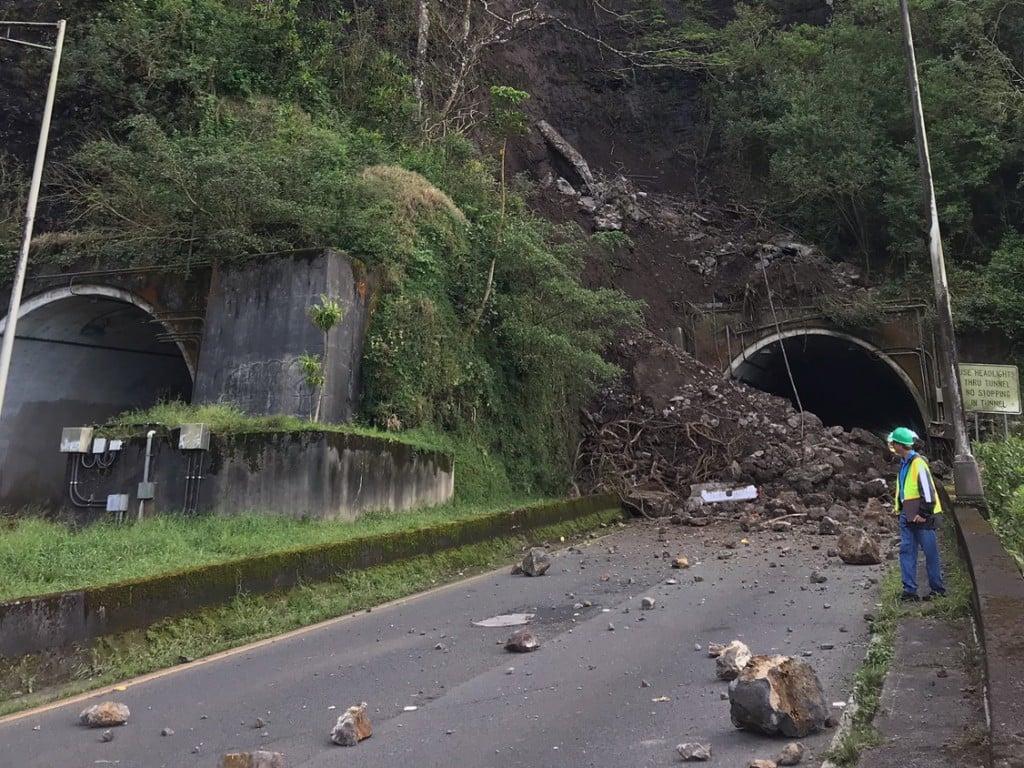 Pali Highway Closed Tunnel Hawaii One