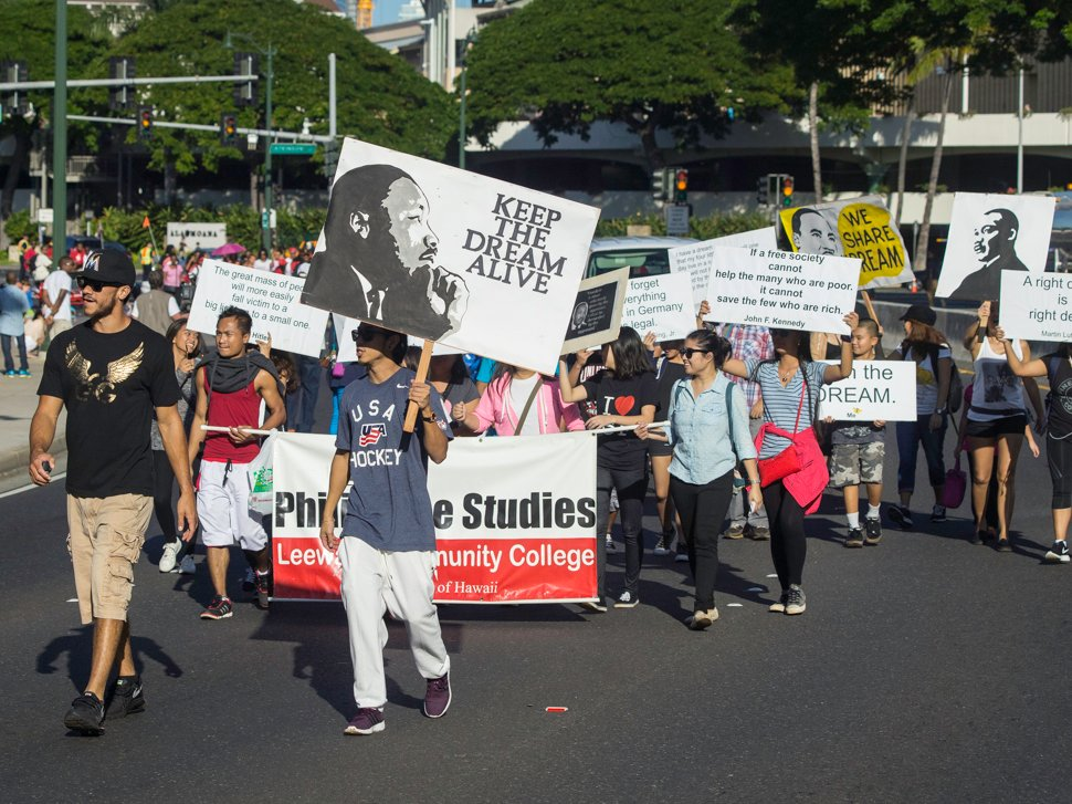 Martin Luther King Jr Day March Parade Honolulu