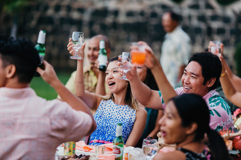 Honolulu Weddings Toast