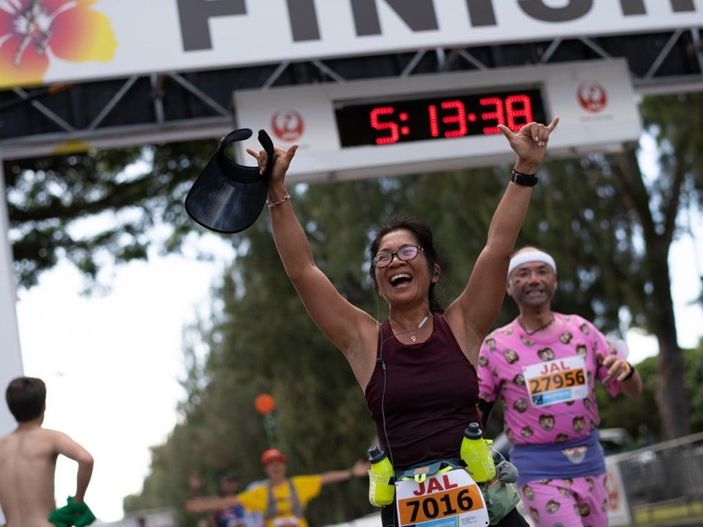 Honolulu Marathon Runner 2018
