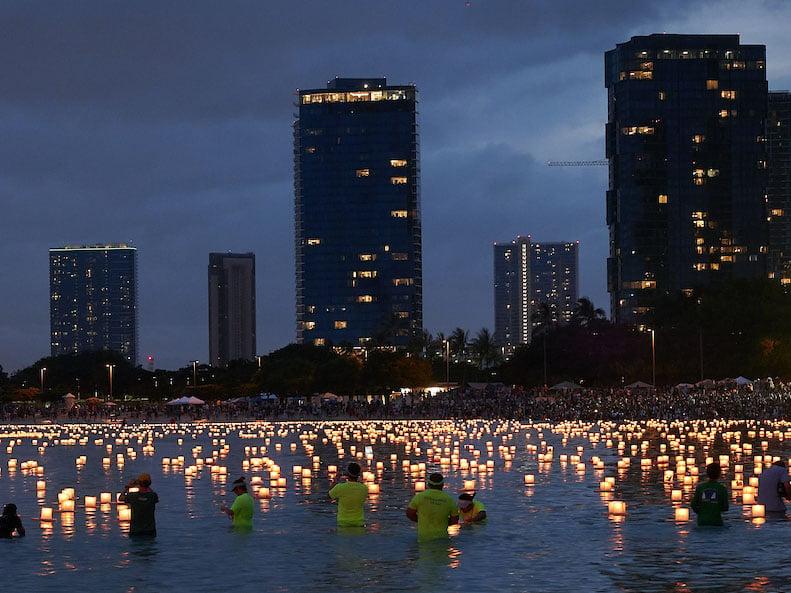 Splash Lantern Floating Ceremony
