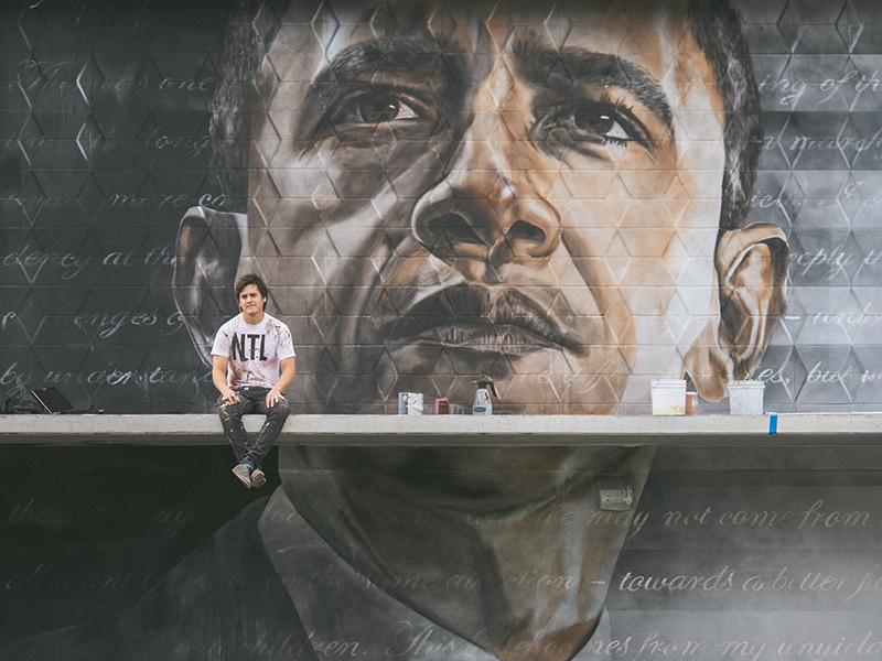 Splash Obama Mural