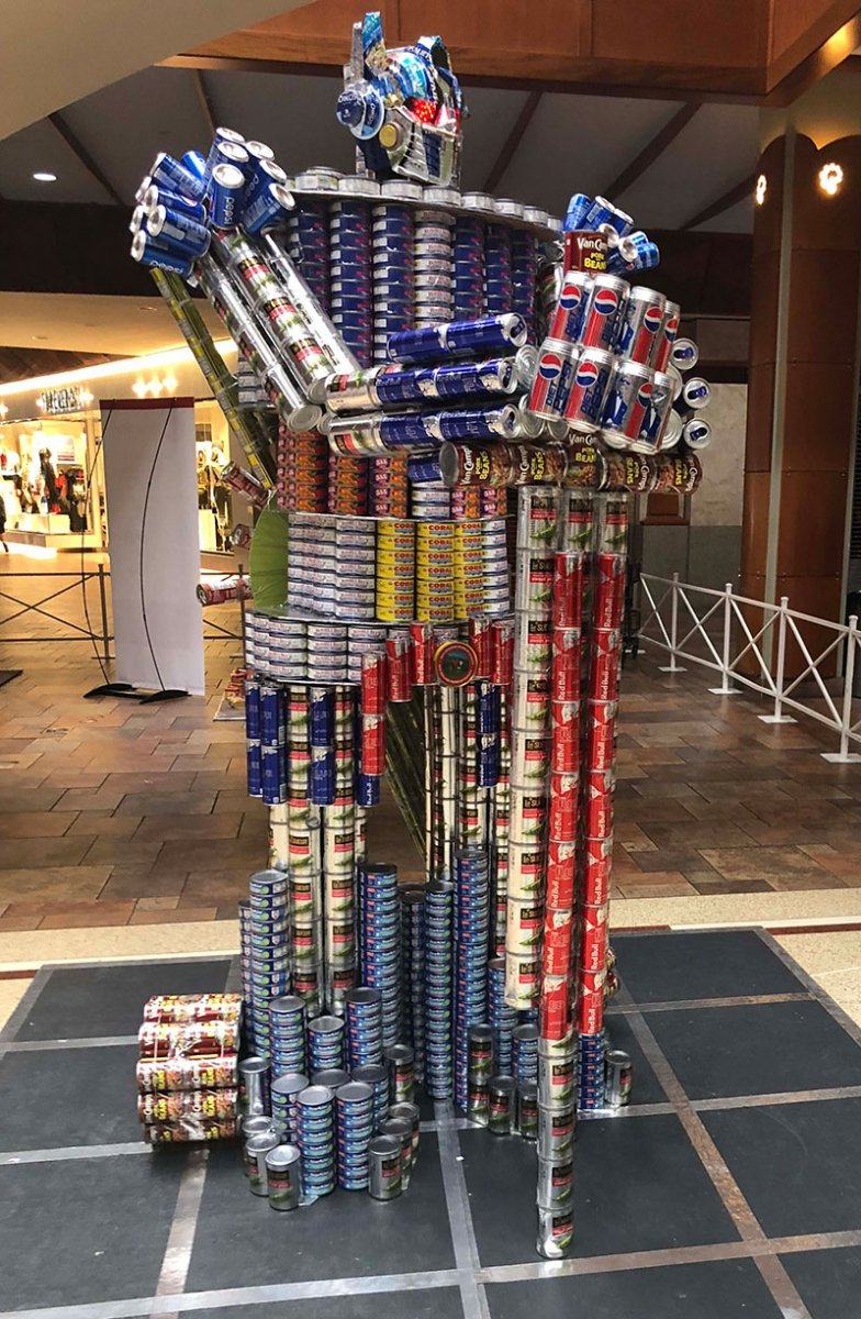 Transformer made out of cans