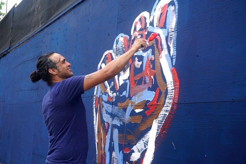 Soloman Enos Sign Language Mural